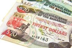 巴哈马群岛的美元 免版税图库摄影