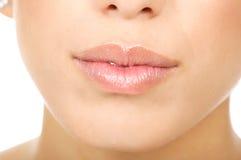 嘴唇妇女 免版税库存图片