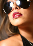 嘴唇红色性感 免版税库存图片