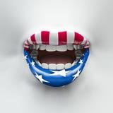 嘴唇美国 免版税库存图片