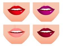 嘴唇集合妇女 库存图片