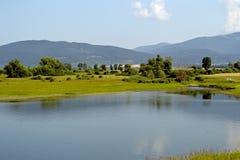 水坝湖 库存照片