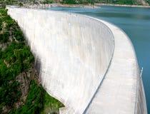 水坝emosson 库存图片