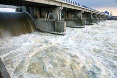 水坝polska wloclawek 免版税库存照片