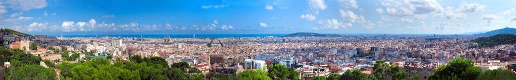 巴塞罗那全景西班牙 库存照片