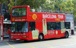 巴塞罗那公共汽车城市浏览 库存照片