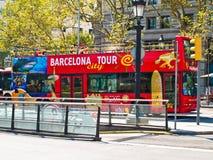 巴塞罗那公共汽车浏览 库存照片
