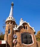 巴塞罗那公园Guell Gaudi华而不实的屋  免版税库存图片