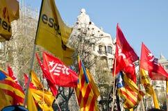 巴塞罗那总罢工 免版税图库摄影