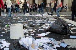 巴塞罗那总罢工 库存图片