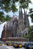 巴塞罗那的著名大教堂La Sagrada Familia 库存图片