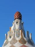 巴塞罗那著名gaudi guell公园 免版税库存图片