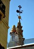 巴塞罗那装饰屋顶 库存图片