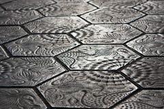 巴塞罗那边路石头 免版税库存图片