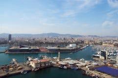 巴塞罗那通用海运视图 库存图片