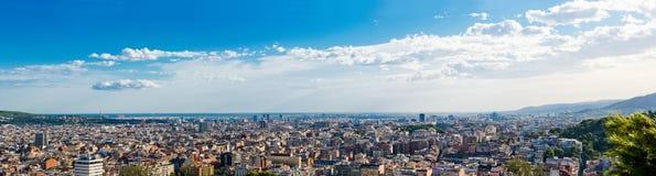 巴塞罗那都市风景。 西班牙。 免版税图库摄影