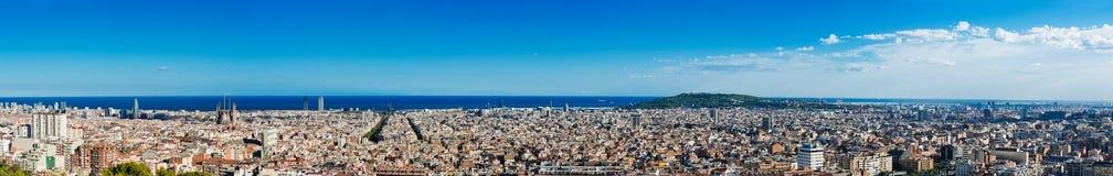 巴塞罗那都市风景。 西班牙。 免版税库存图片