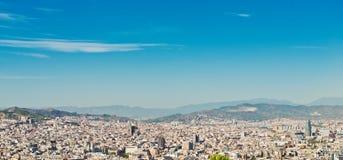 巴塞罗那都市风景。 西班牙。 免版税库存照片