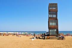 巴塞罗那barceloneta海滩西班牙 库存图片