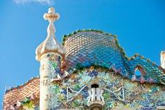 巴塞罗那batllo住处西班牙 免版税图库摄影