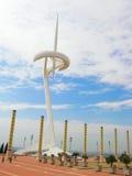 巴塞罗那calatrava塔 免版税库存照片