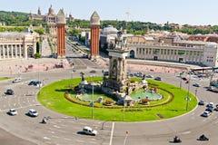 巴塞罗那espanya正方形 库存图片