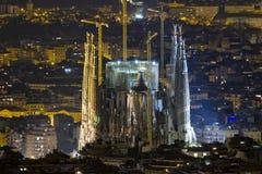巴塞罗那familia sagrada西班牙 库存照片
