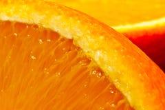 水多的桔子 免版税库存图片