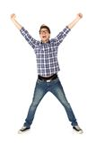 兴奋人年轻人 免版税库存照片
