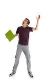 兴奋查找的学员  免版税库存照片