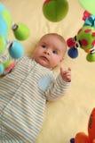 兴奋婴孩 免版税库存照片