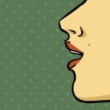 嘴妇女 免版税库存图片