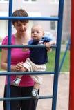 婴孩上升的梯子步骤 库存图片