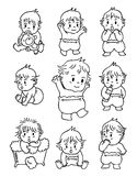 婴孩乱画 免版税库存图片