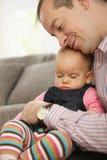 婴孩休眠的一点 库存照片