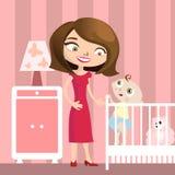 婴孩例证母亲 免版税库存照片
