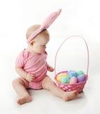 婴孩兔宝宝复活节 库存照片