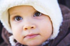 婴孩冬天 免版税库存照片