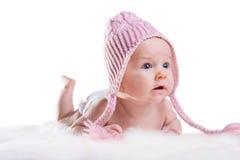 婴孩冬天 图库摄影