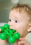 婴孩出牙 免版税库存图片