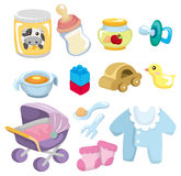 婴孩动画片货物图标 免版税库存图片