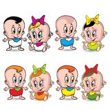 婴孩动画片 免版税库存照片