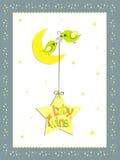 婴孩卡片设计孪生 库存照片