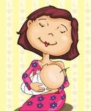 婴孩哺乳的妈妈 库存图片