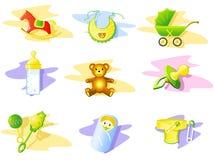 婴孩图标集 库存图片