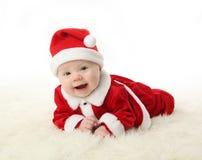 婴孩圣诞老人微笑 库存图片