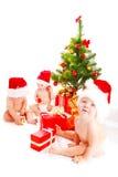 婴孩圣诞老人 免版税库存照片