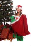 婴孩圣诞老人 图库摄影