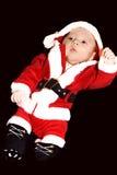 婴孩圣诞节父亲一点 免版税库存图片