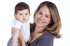婴孩她的母亲儿子 免版税图库摄影